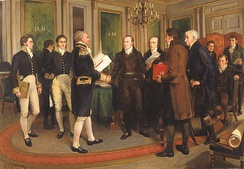 Signing of the Treaty of Ghent With the United States (1814), by A. Forestier