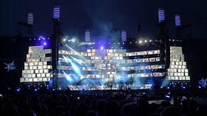 "Muse performing ""Stockholm Syndrome"" during The Unsustainable Tour"
