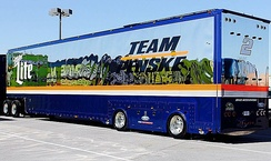 Team Penske No. 2 hauler set for parade down Las Vegas Strip – 2015