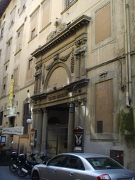 Entrance of Teatro del Cocomero in Florence