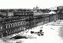 Tuileries Palace before 1871, view from the Louvre