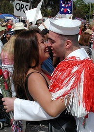 Homecoming for USS John C. Stennis (CVN 74) after a six-and-a-half-month deployment, 2002.