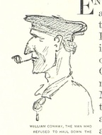 William Conway Union Navy quartermaster who refused to haul down the American flag when Pensacola Naval Yard was captured. From a sketch by William Waud