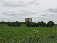 Wistow Mine, cladding covered pit head (2005)