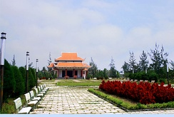 "Memorial temple to Nguyễn Thị Định and the female volunteers of the PLAF whom she commanded. They came to call themselves the ""Long-Haired Army""."