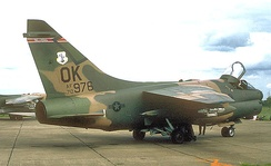 125th Tactical Fighter Squadron A-7D Corsair II 70-976, about 1981