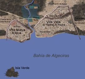 Location of the Algeciras Villas. North is to the right.