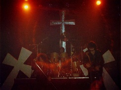 Black Sabbath performing in Cardiff in 1981