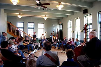 Bluegrass music jam at the Delafield Fish Hatchery.