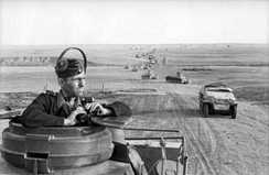 A column of tanks and other armoured vehicles of the Panzerwaffe near Stalingrad, 1942
