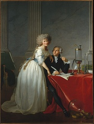 Portrait of Antoine-Laurent Lavoisier and his wife by Jacques-Louis David, ca. 1788
