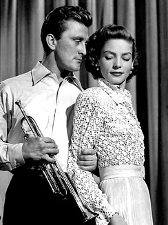 Douglas and Lauren Bacall in Young Man with a Horn, 1950