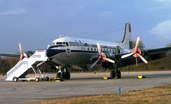 The Douglas DC-4 was one of the first airliners in the United States used for commercial flights.