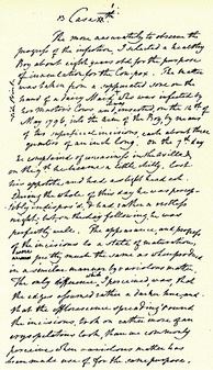 Handwritten draft of Edward Jenner's first vaccination. The document is held at the Royal College of Surgeons in London