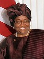 President of Liberia and Nobel Peace Prize laureate Ellen Johnson Sirleaf (MPA, 1971)