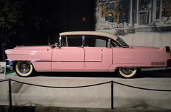 The pink Cadillac on display in 2012