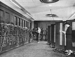 ENIAC was the first electronic, Turing-complete device, and performed ballistics trajectory calculations for the United States Army.