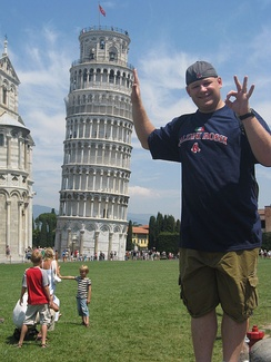 Use of forced perspective with the Leaning Tower of Pisa is popular in tourist photography.