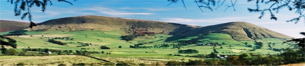 Fair Snape Fell (left) and Parlick (right) viewed from the south-west
