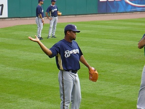 Cordero with the Brewers in 2007