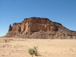 Jebel Barkal mountain in Nubia, a UNESCO World Heritage Site.