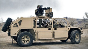 General Dynamics Flyer 72 GMV 1.1 'Ground Mobility Vehicle' with GAU-19 gatling gun