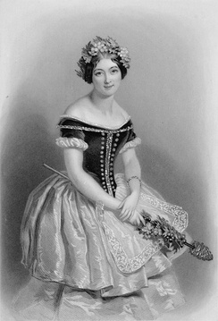 Carlotta Grisi, his great love, as Giselle, 1842.