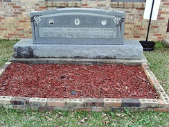 A memorial to victims Andrew Goodman, James Earl Chaney, and Michael Schwerner at Mt. Nebo Missionary Baptist Church in Philadelphia, Mississippi.