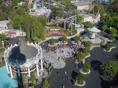 View of California's Great America from above