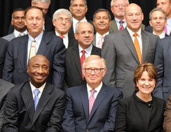 A group of Fortune 500 CEOs in 2015.