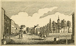 """Central View of Leesburg"" c. 1845"