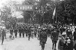 Belgo-Congolese troops of the Force Publique after the Battle of Tabora, 19 September 1916