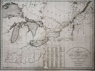 A map of the Canadas from 1812. It has been disputed whether or not the American desire to annex Canada brought on the war.