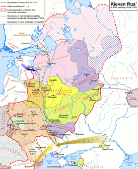 Novgorod within Kievan Rus' prior to independence.