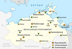 Airports in Mecklenburg-Western Pomerania