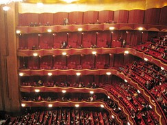 Auditorium of the Metropolitan Opera House at Lincoln Center for the Performing Arts