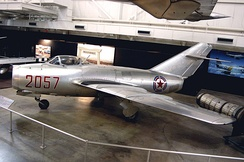 No Kum-sok's MiG-15 on display at the National Museum of the United States Air Force.