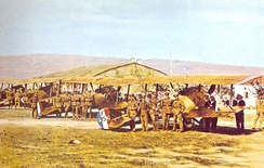 """Z"" Squadron at Moudros Airfield ready for inspection (1917)."