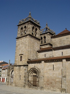 View of the South side of Braga Cathedral where Henry, Count of Portugal was buried