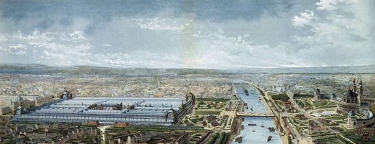 Panoramic view of Exposition Universelle, 1878.