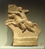 Parthian horse archer, now on display at the Palazzo Madama, Turin