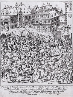 The plundering of the Frankfurter Judengasse, 22 August 1614