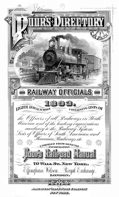 """Poor's Directory of Railroad Officials"", 1893 (frontispiece)"