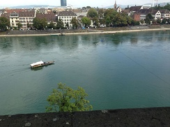 Cable ferry across the Rhine in Basel
