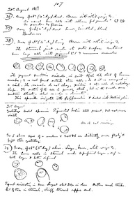 Ronald Ross won the 1902 Nobel Prize for showing that the malaria parasite is transmitted by mosquitoes. This 1897 notebook page records his first observations of the parasite in mosquitoes.