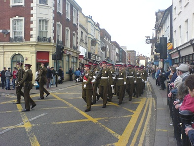March past in Bedford