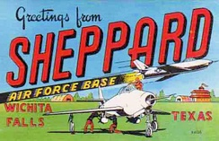 Sheppard AFB postcard from around 1953
