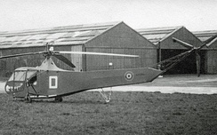Royal Air Force Hoverfly I in use by Fairey Aviation in late 1945