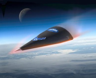 Illustration of Hypersonic Test Vehicle (HTV) 2 reentry phase