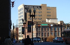 "The Sterchi Lofts building, formerly Sterchi Brothers Furniture store, the most prominent building on Knoxville's ""100 Block"""